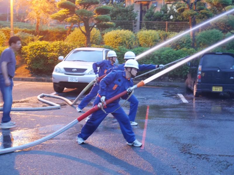 高隈 消防操法大会に向けての合同練習2